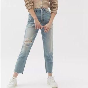BDG High-Waisted Light Wash Slim Straight Jean